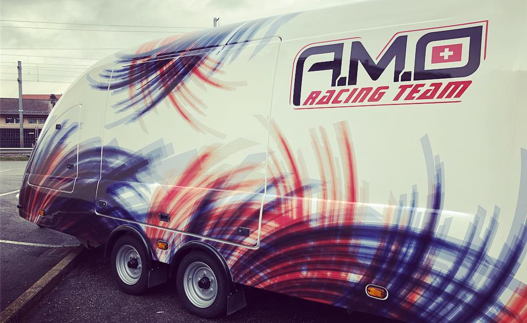 team amo racing bleu rouge